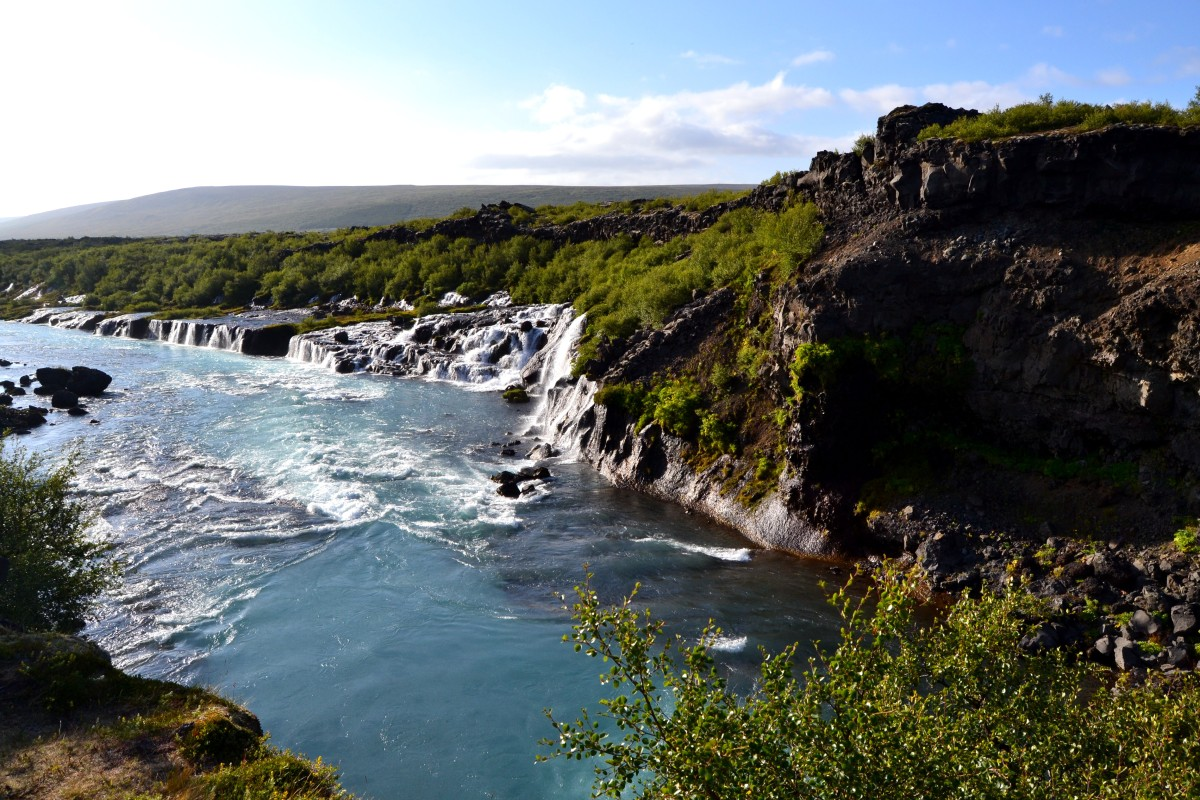 Hraunfossar, Barnafoss and Hvalfjörður